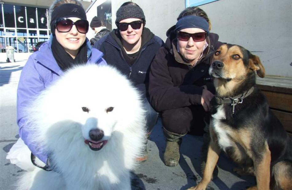 Enjoying the Dog Derby at Coronet Peak last week are (from left) Erin McGimpsey, Virginia...