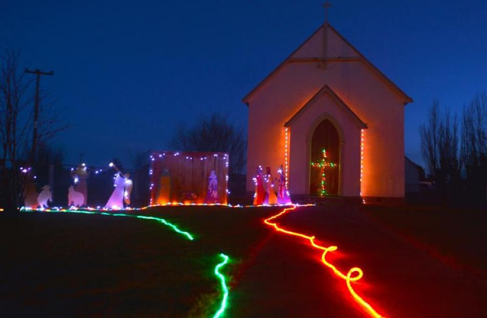 St Paul's Catholic Church lights up Middlemarch.