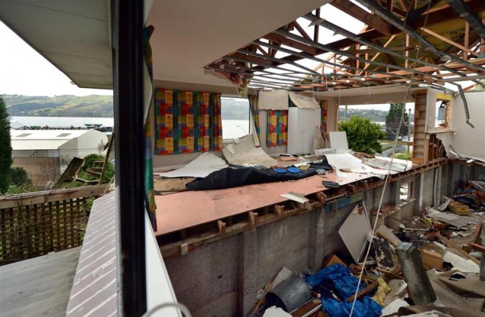 One of the four houses Ravensdown is demolishing in Ravensbourne Rd near its fertiliser works.
