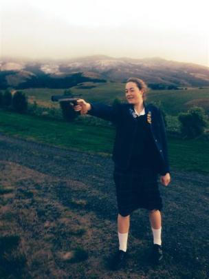 Pistol shooting.