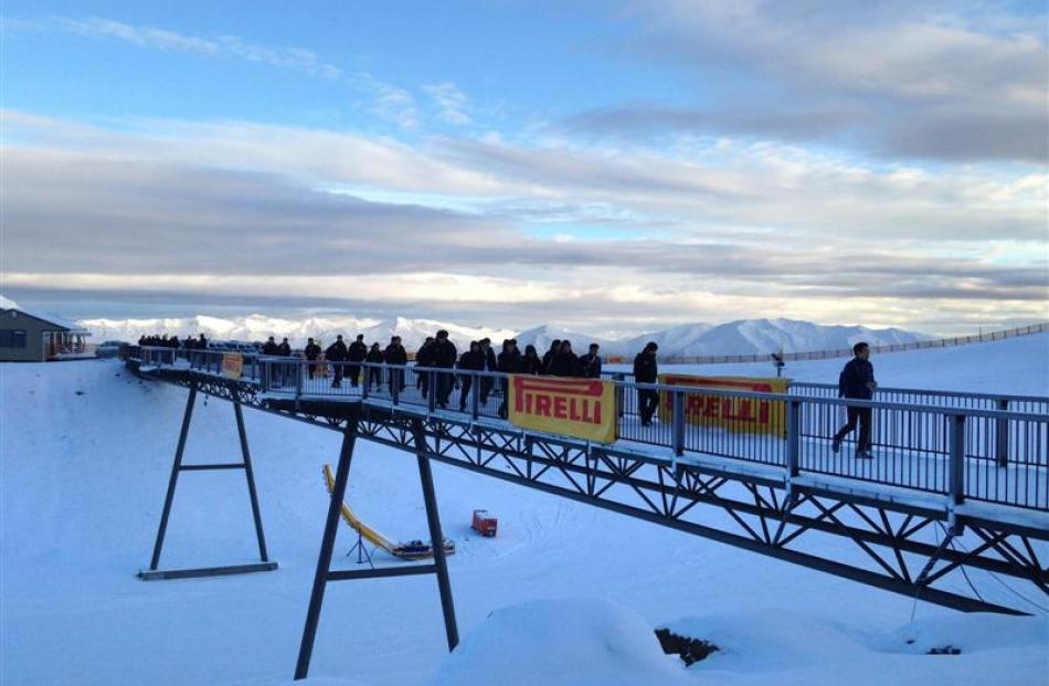 These Pirelli tyre dealers were given the chance to try their driving skills on ice and snow on...