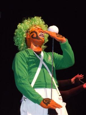 Te Wai o Te Kotahitanga member Willy Wiparata,  of Christchurch, performs during the inaugural...