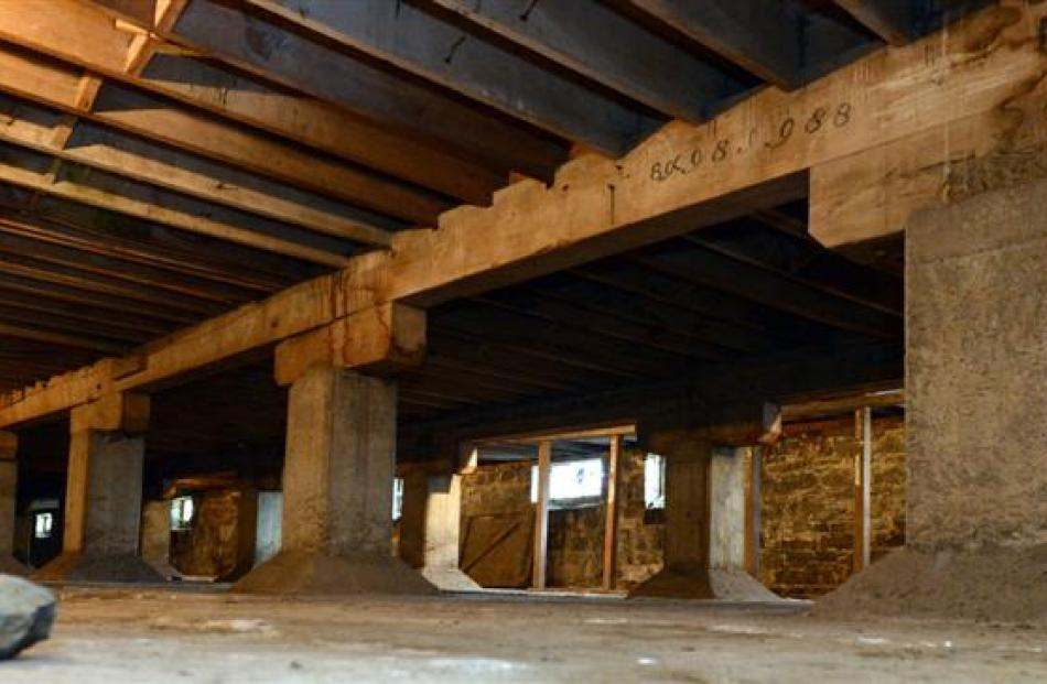 The basement, which may be used for storage lockers for apartment owners.