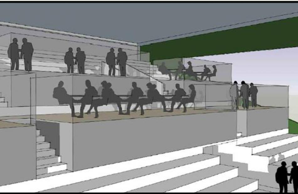 An architectural design of proposed sponsors' boxes in the members' stand at Forbury Park. Image...