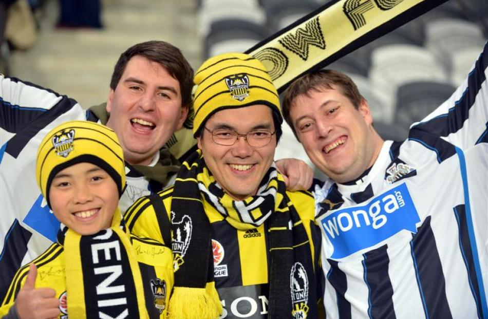 Enjoy the atmosphere are (from left) Ayoub Ahmad (11), of Dunedin, Sam Hickey, of Yorkshire,...
