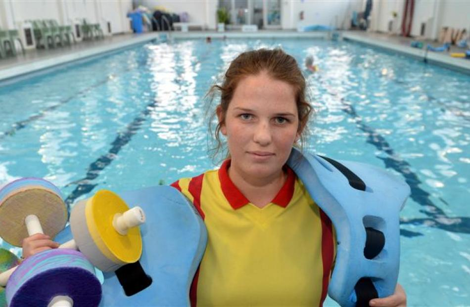 Otago Therapeutic Pool supervisor Emma Jones at the pool yesterday.