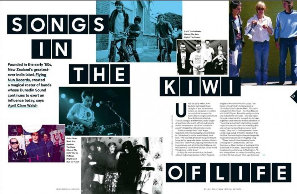 Music magazine NME records the influence of Dunedin bands in a special feature.