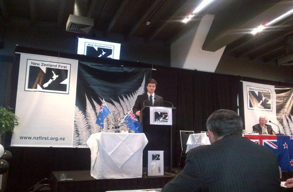 Logan Park High School pupil Jacobi Kohu-Morris gives his state-of-the-nation address to the New...