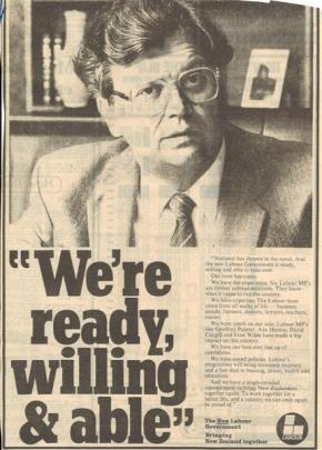 A Labour Party ad in the 1984 election, which the party won.