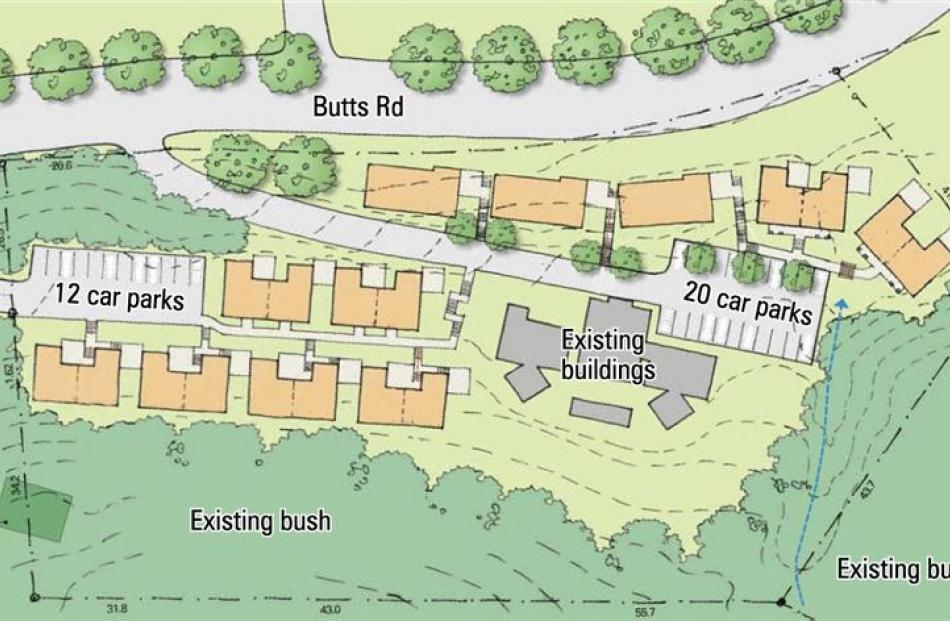 The site plan for 3 Butts Rd. Image supplied.