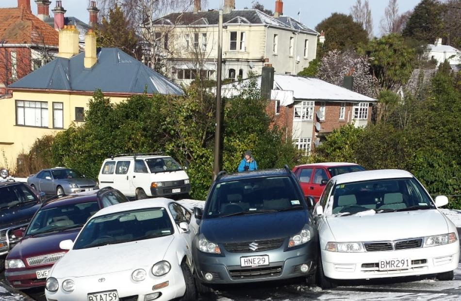 'Close' parking along Drivers Rd. Reader photo by Marian Vlaar