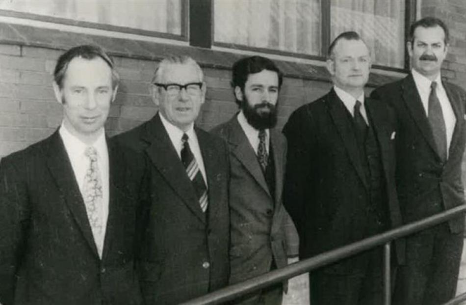 Centre GPs (from left) Drs Robert McAllister, Don McAllister, Leo Garmonsway, Alec Luke and ...