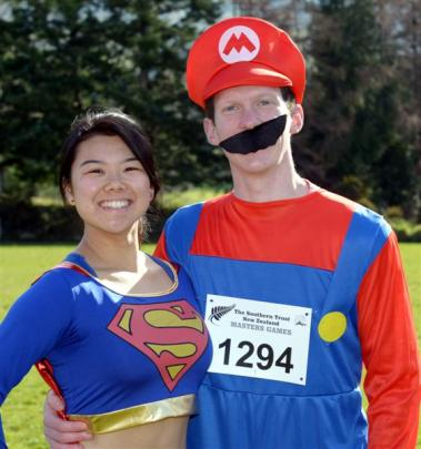 Helen Fang (19), as Supergirl and Anton Melville (20), as Mario.