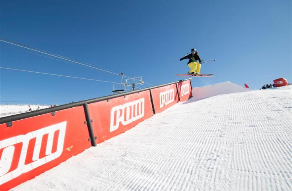 James Woods from the United Kingdom, who won yesterday's The North Face Freeski Open of New...