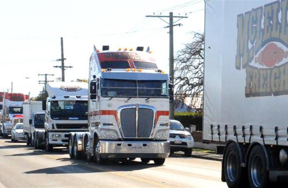 The trucks in Mosgiel.
