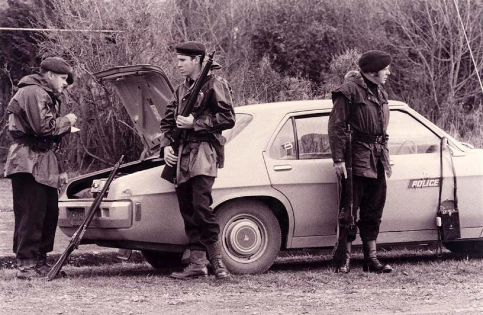 AOS members attend a callout in the 1970s.