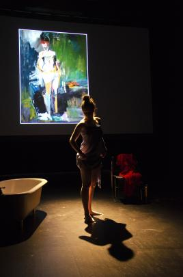 Part of Harmony Stemple's play is inspired by her time working as an artist's model in New York.