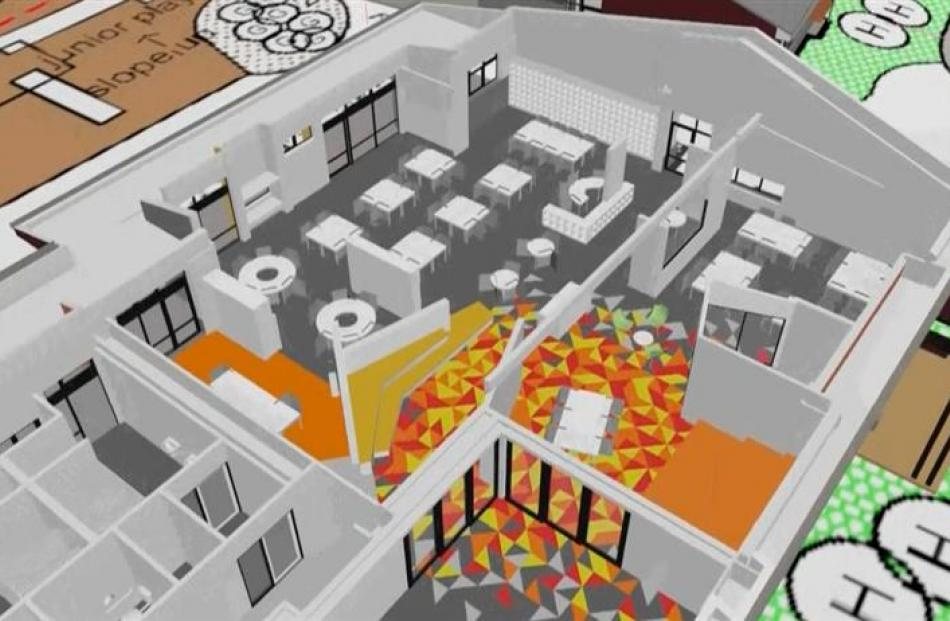 An aerial overview of what classrooms at the new Shotover Primary School will look like.  The '...