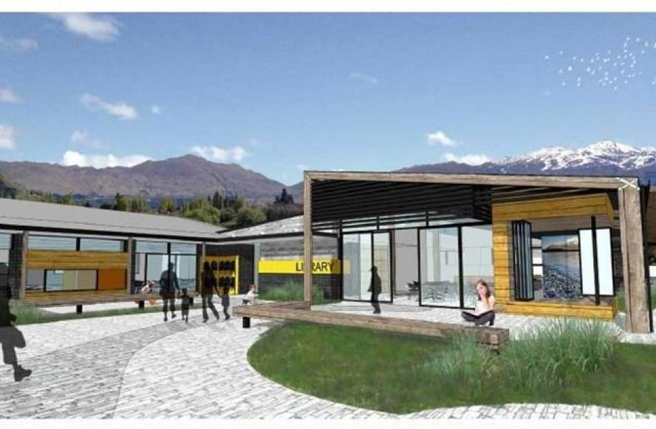 An artist's impression of what part of the $17 million Shotover Primary School will look like on...