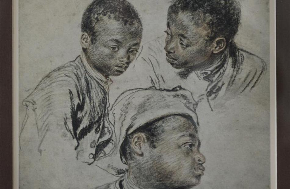 Three Negro Boys, by Jean-Antoine Watteau was given to Mrs Kirkwood when she was in her early 20s...