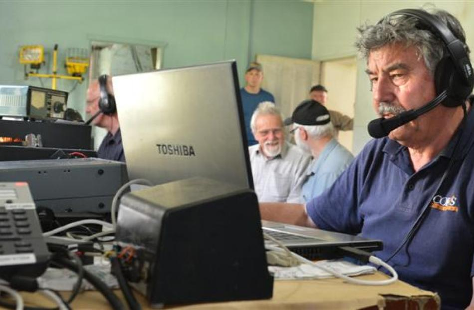 Radio operator Mike Mather, of Gisborne, makes radio transmissions across the globe using some of...