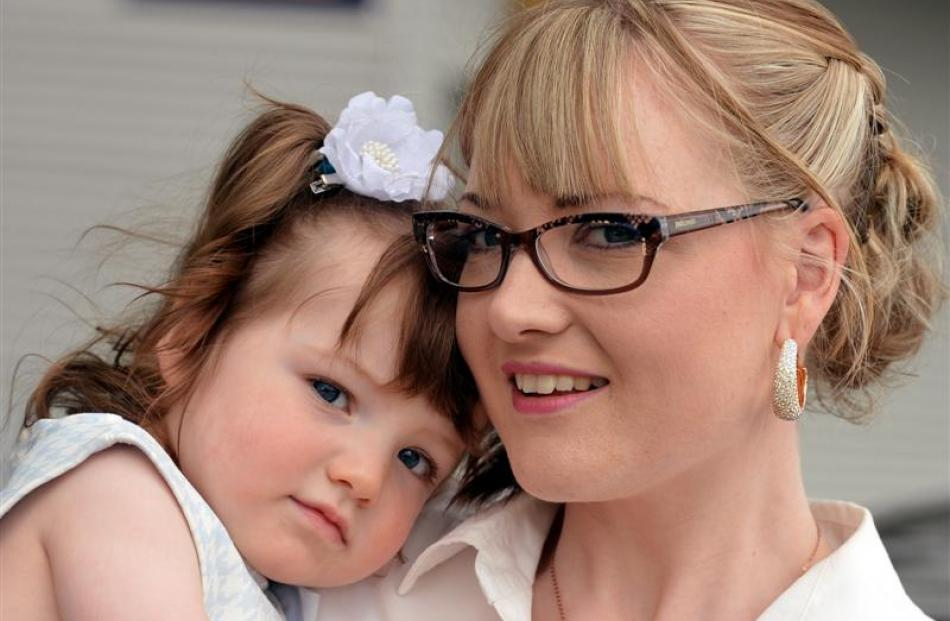 Abby (15 months) and Lillie Windslow, of Waiouru.