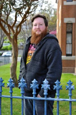 Mozart fellow Jeremy Mayall at the University of Otago. Photo by Gregor Richardson.