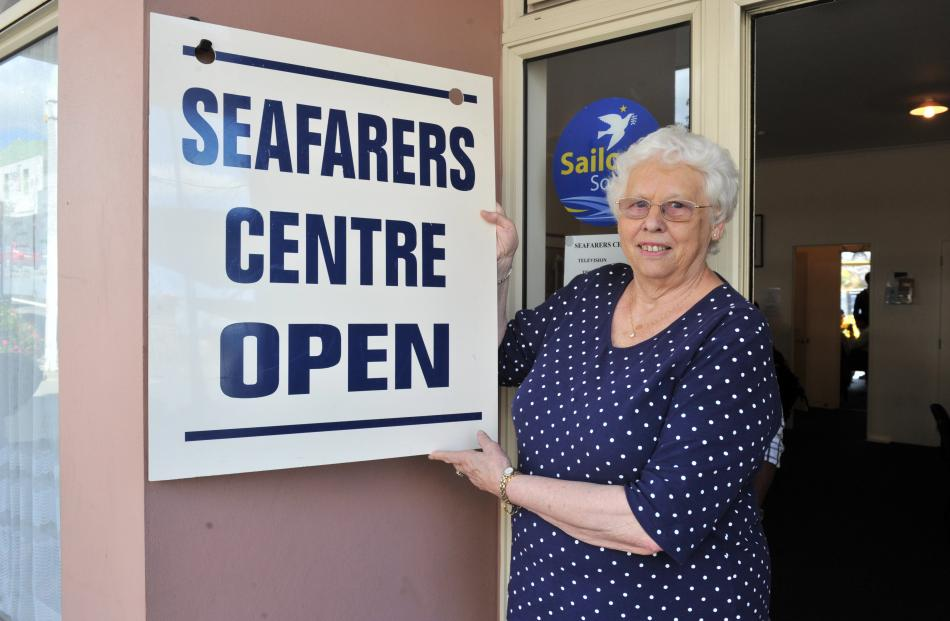 "Shirley Farquhar has been ""interim"" Seafarers Centre manager for 41 years."