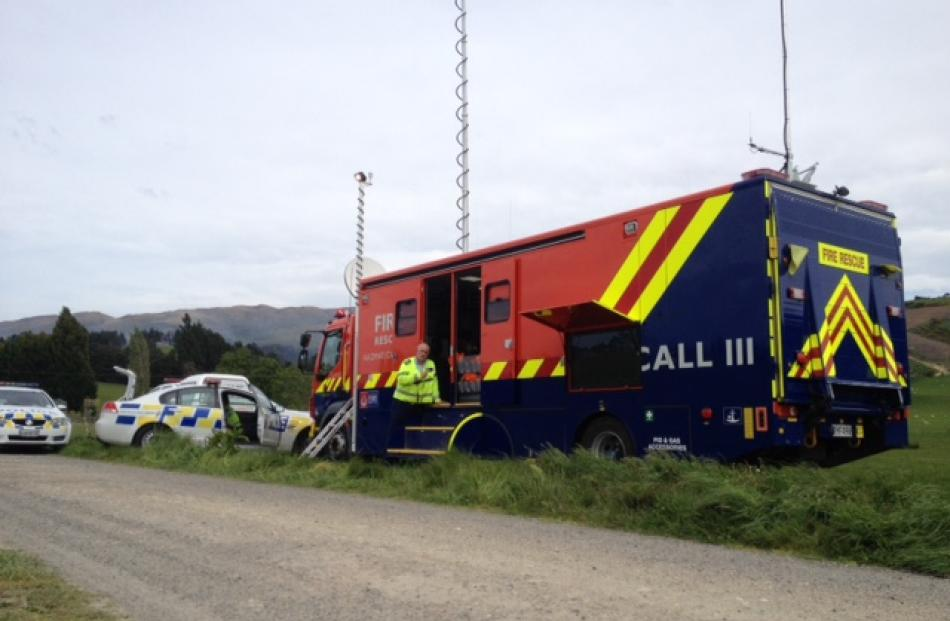 Command centre for the Outam fire. Photo by Hamish McNeilly.