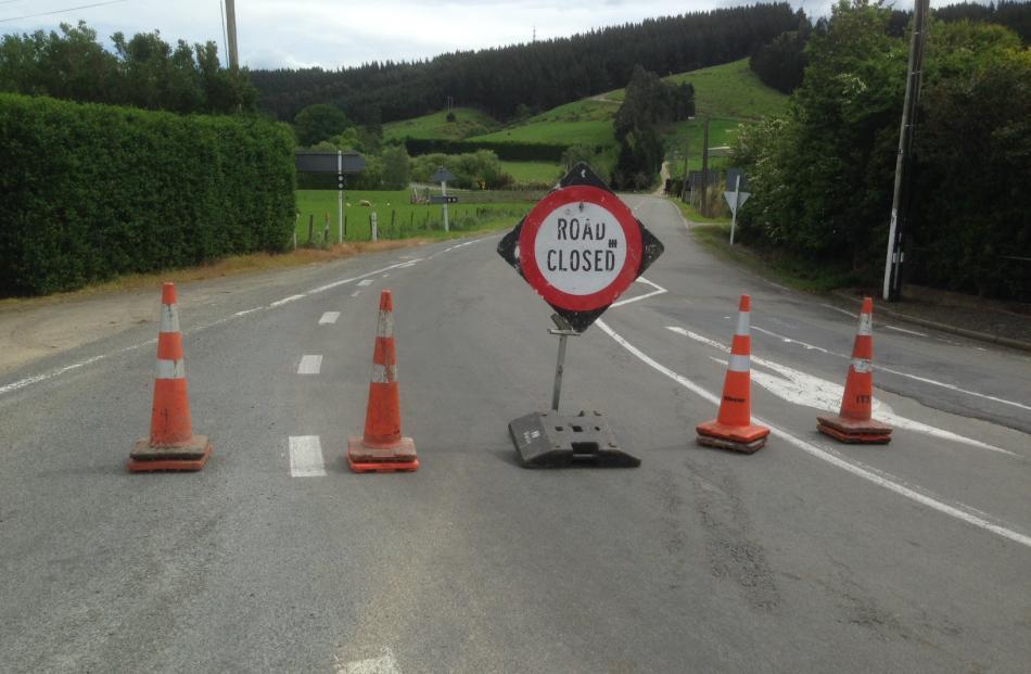 SH 87 road closed. Photo by Linda Robertson