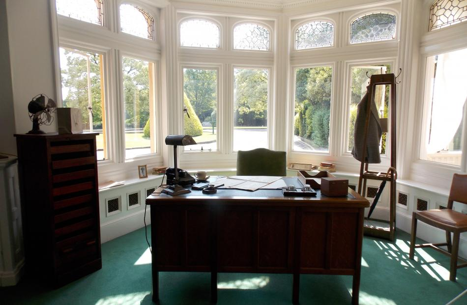 Commander Alistair Denniston's office at Bletchley Park.