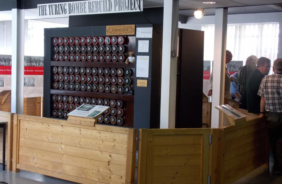 In Building B, Turing and Welchmann's Bombe has been painstakingly recreated.