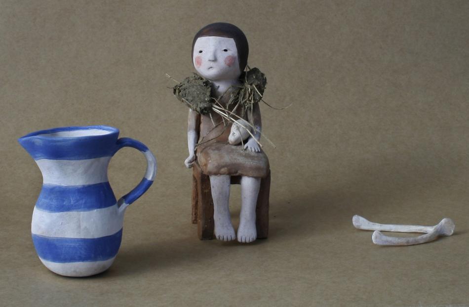 """Premier Portage Awards merit award winner """"He Loves Me, He Loves Me Not"""" , by Dunedin ceramicist..."""