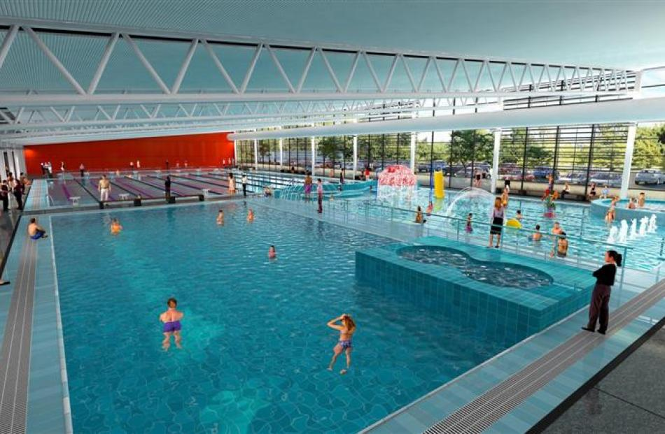 Artist's impressions of the interior of Taieri Aquatic Facility. Images supplied.