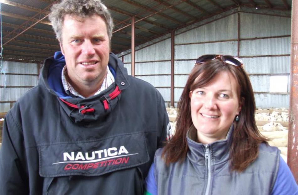 New Zealand ewe hogget competition winners Simon and Kirstin Engelbrecht.