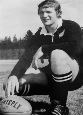 Ian Hurst in his All Black gear in the 1970s. Photo supplied.