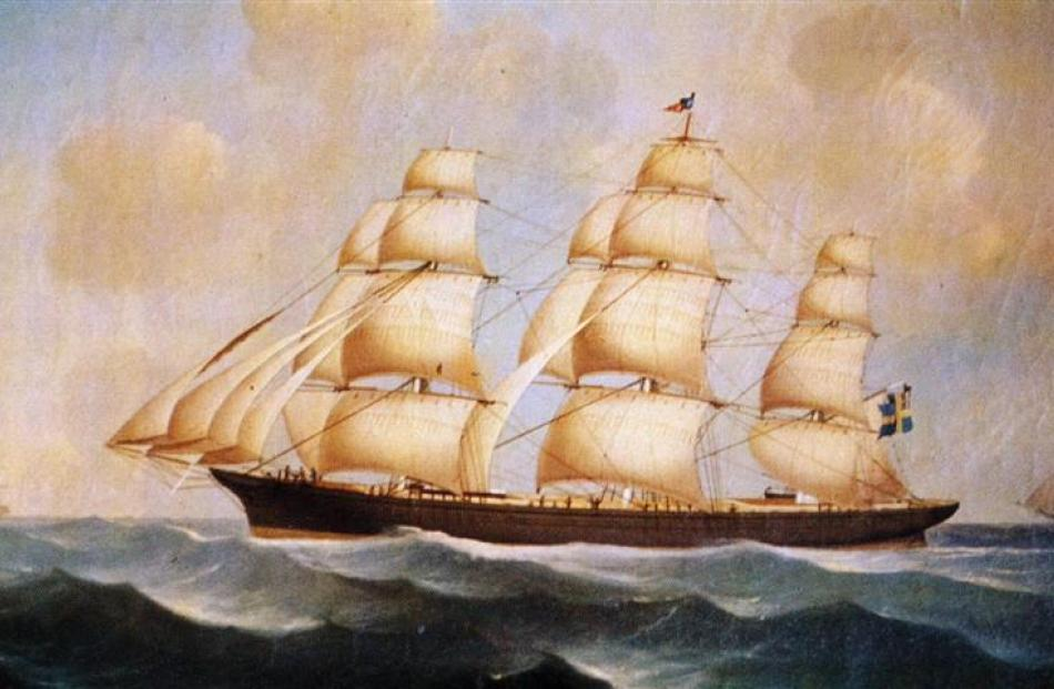 A depiction of Don Juan in her glory days, making sail during a 40-year career that took her from...