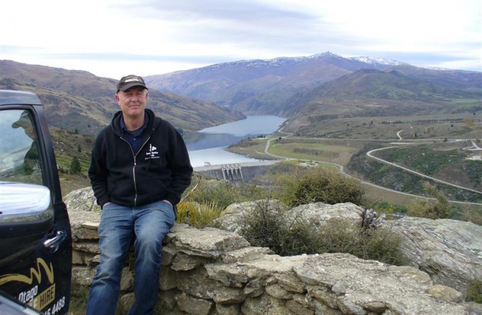 Dave Moreton above the Clyde dam.