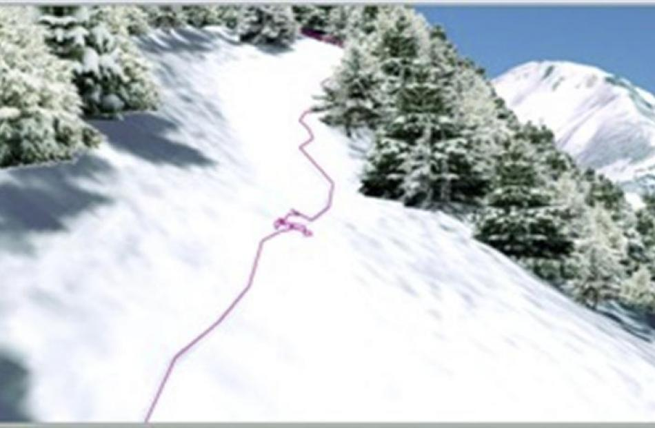 Live tracking a staff member John Renton, over the internet, on a mountain in Austria, while he...