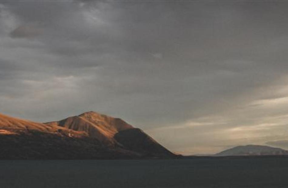 Sunset over Ben Ohau Range.