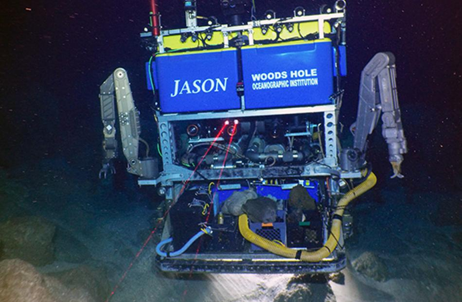 A remotely-operated vehicle, Jason, which was developed at the Woods Hole Oceanographic...