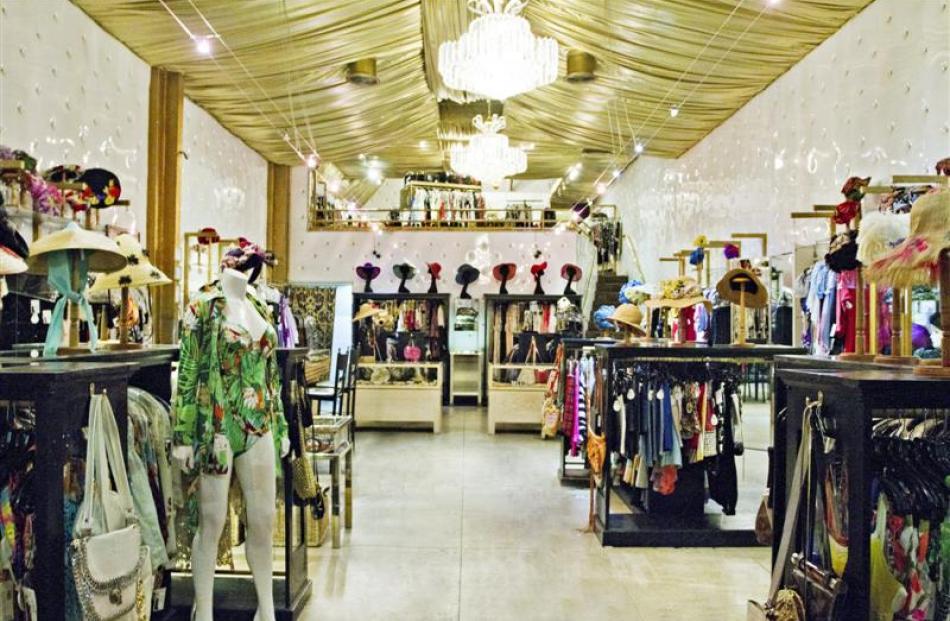 Doris Raymond's store The Way We Wore on upmarket La Brea Ave, Los Angeles, stocks vintage...