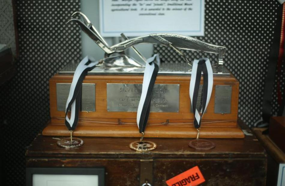 The Case IH Silver Plough trophies.