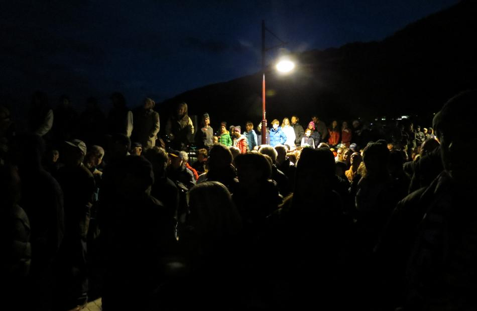 An estimated 3000 people turned out in Queenstown to mark the 100th anniversary of the Gallipoli...