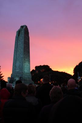 Invercargill dawn service at the Eastern cemetery. Photo: Alison Beckham