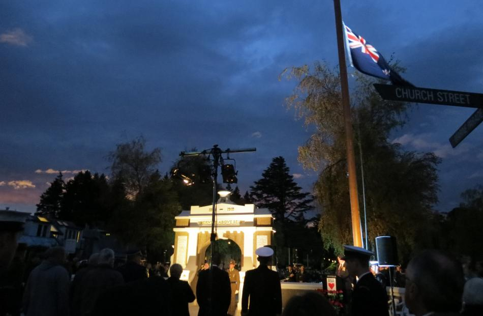 The New Zealand flag is raised in Queenstown.  PHOTO:  TRACEY ROXBURGH