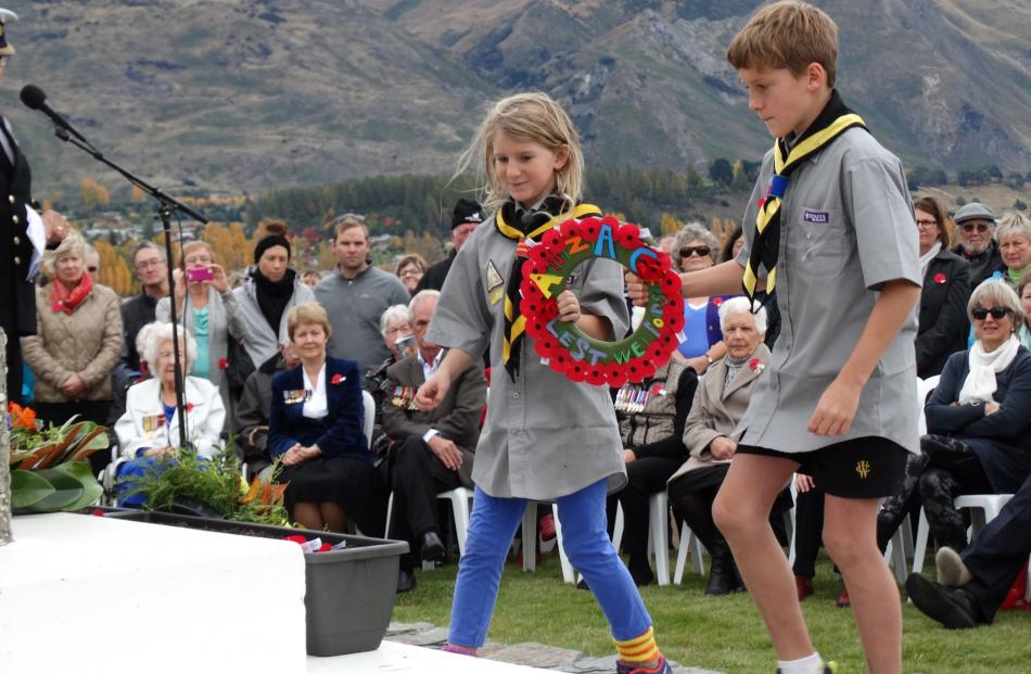 Rose Deacon and Alex Graham (both 10), from the Wanaka Cubs.