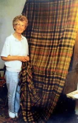 The ancient cloth, held by her late aunt, Alice.