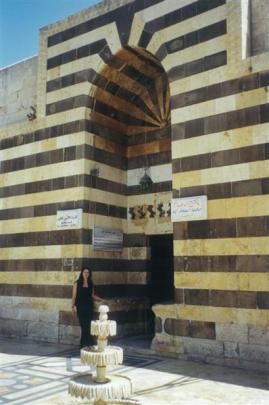 Suraya Langston at the Khan Al Wazar building in the old city of Aleppo.