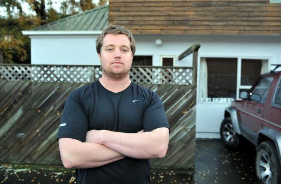 Otago Polytechnic student and York Pl resident Cooper Gilmour (21) thinks concerns the area could...